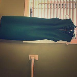 Calvin Klein green business casual dress
